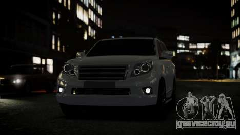 Toyota Land Crusier Prado 150 для GTA 4 вид сзади