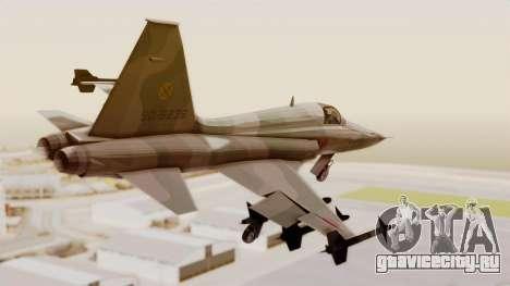 Northrop F-5E Tiger II JASDF для GTA San Andreas вид слева
