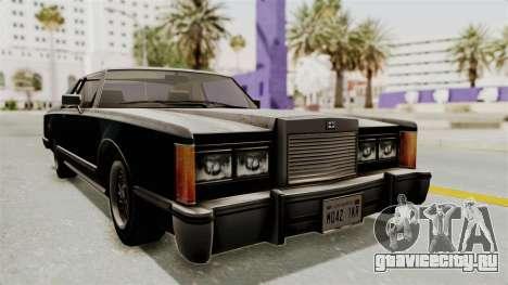 GTA 5 Dundreary Virgo SA Style для GTA San Andreas вид справа