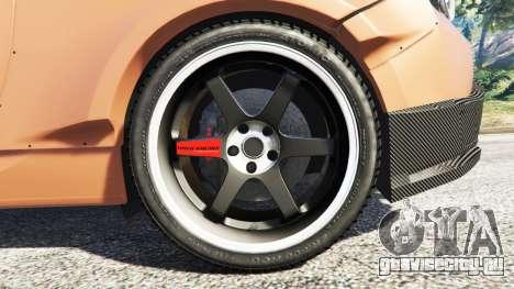 Subaru BRZ Rocket Bunny для GTA 5 вид сзади справа