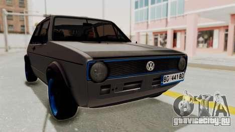 Volkswagen Golf 1 для GTA San Andreas вид справа