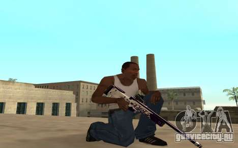 Purple fire weapon pack для GTA San Andreas пятый скриншот