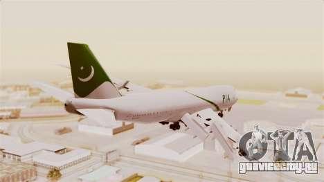 Boeing 747-200 Pakistan International для GTA San Andreas вид слева