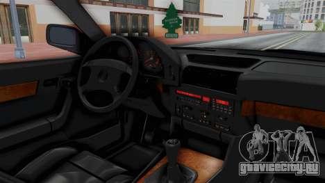 BMW 525i E34 1994 SA Plate для GTA San Andreas вид изнутри