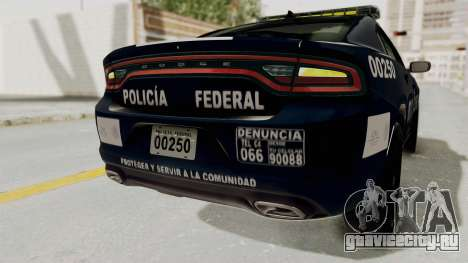 Dodge Charger RT 2016 Federal Police для GTA San Andreas салон