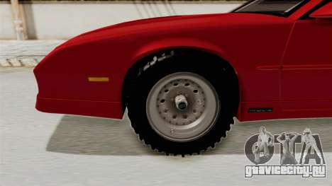 Chevrolet Camaro 1990 IROC-Z Rusty Rebel для GTA San Andreas вид сзади