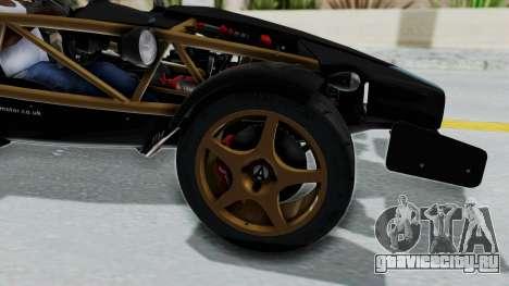 Ariel Atom 500 V8 для GTA San Andreas вид сзади