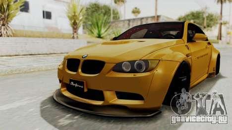 BMW M3 E92 Liberty Walk для GTA San Andreas вид сзади слева