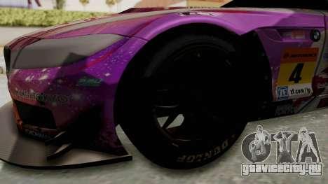BMW Z4 GT3 Tobisawa Misaki для GTA San Andreas вид сзади