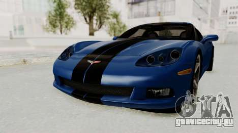 Chevrolet Corvette C6 для GTA San Andreas вид сзади слева