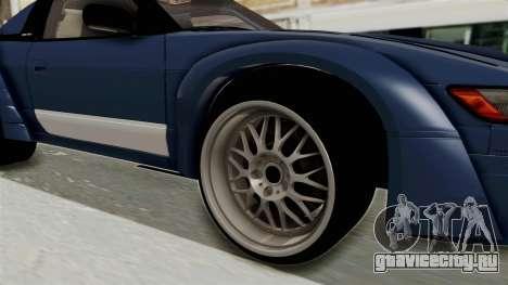 Nissan Silvia Sil80 для GTA San Andreas вид сзади