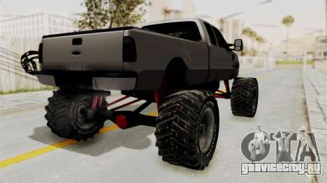 Ford F-350 Super Duty Monster Truck для GTA San Andreas вид сзади слева