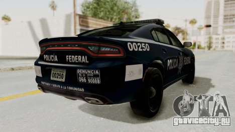Dodge Charger RT 2016 Federal Police для GTA San Andreas вид сзади слева