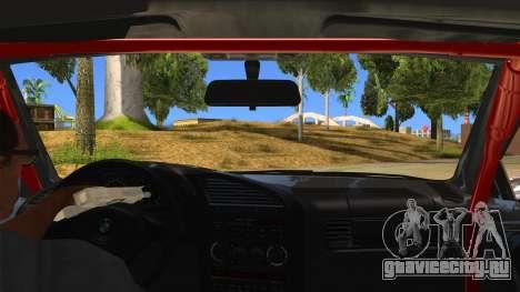 BMW M3 Drift Missile для GTA San Andreas вид изнутри