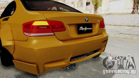 BMW M3 E92 Liberty Walk для GTA San Andreas салон