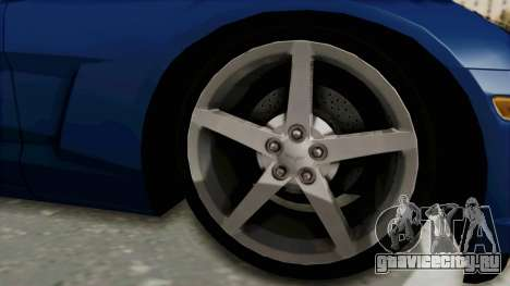 Chevrolet Corvette C6 для GTA San Andreas вид сзади