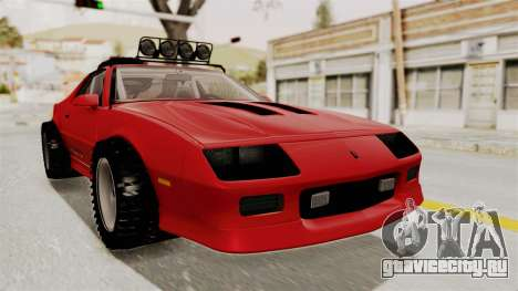 Chevrolet Camaro 1990 IROC-Z Rusty Rebel для GTA San Andreas