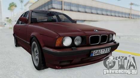 BMW 525i E34 1994 LT Plate для GTA San Andreas вид сзади слева