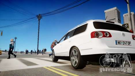 Volkswagen Passat Variant 2010 V1 для GTA 4 вид сзади