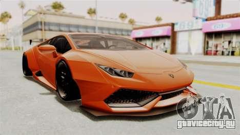 Lamborghini Huracan Libertywalk Kato Design для GTA San Andreas вид сзади слева