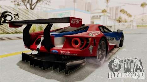 Ford GT 2016 LM для GTA San Andreas вид сзади слева