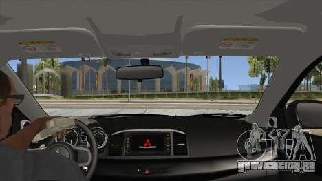 Mitsubishi Lancer Evolution X PDRM для GTA San Andreas вид изнутри