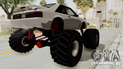 Ford Mustang 1991 Monster Truck для GTA San Andreas вид сзади слева