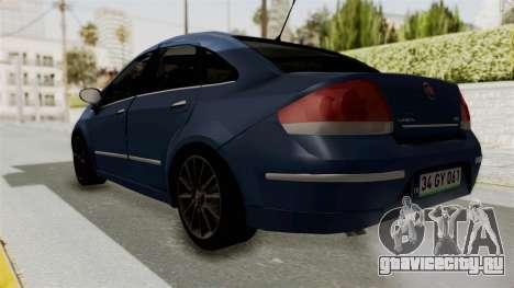 Fiat Linea 2011 для GTA San Andreas вид сзади слева