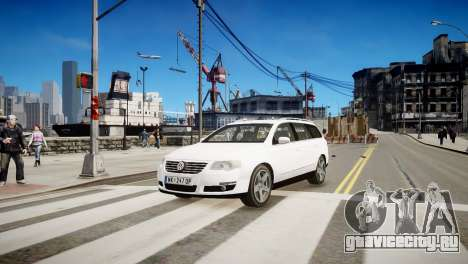 Volkswagen Passat Variant 2010 V1 для GTA 4 вид слева