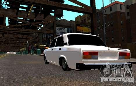 ВАЗ 2107 БПАН для GTA 4 вид справа