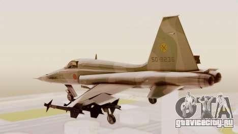 Northrop F-5E Tiger II JASDF для GTA San Andreas вид справа