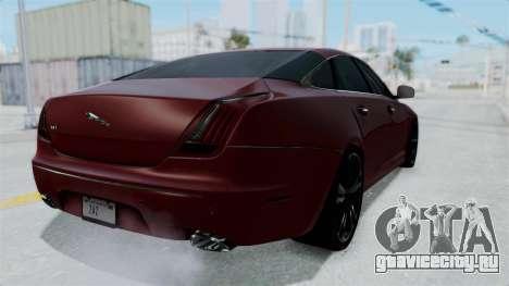 Jaguar XJ 2010 для GTA San Andreas вид сзади слева