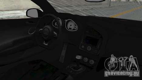 Audi R8 Spyder 2014 LB Work для GTA San Andreas вид сзади