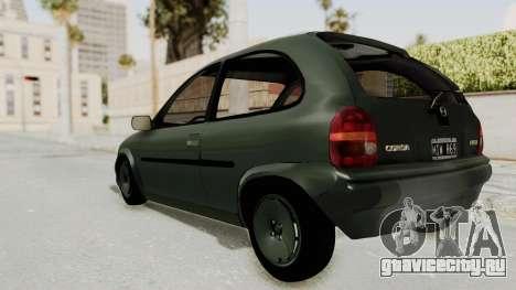 Chevrolet Corsa для GTA San Andreas вид слева