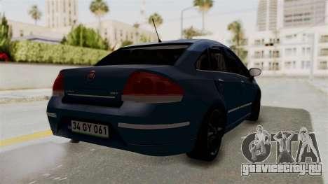 Fiat Linea 2011 для GTA San Andreas вид слева