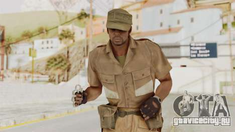 MGSV Phantom Pain CFA Soldier v1 для GTA San Andreas