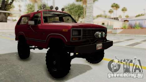 Ford Bronco 1985 Lifted для GTA San Andreas