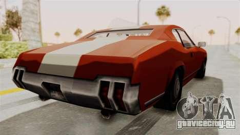 Beta VC Sabre Turbo для GTA San Andreas вид слева