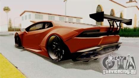 Lamborghini Huracan Libertywalk Kato Design для GTA San Andreas вид справа