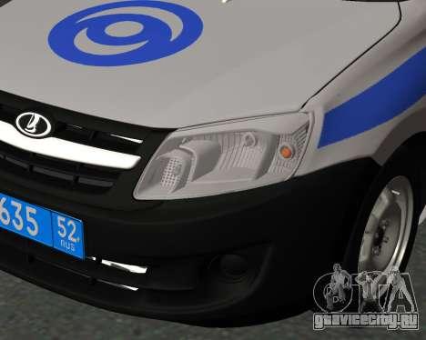 Lada Granta Вневедомственная охрана для GTA San Andreas вид сзади