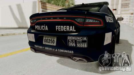 Dodge Charger RT 2016 Federal Police для GTA San Andreas вид снизу