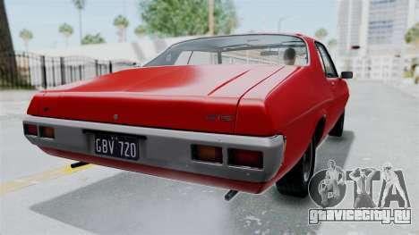 Holden Monaro GTS 1971 AU Plate HQLM для GTA San Andreas вид слева