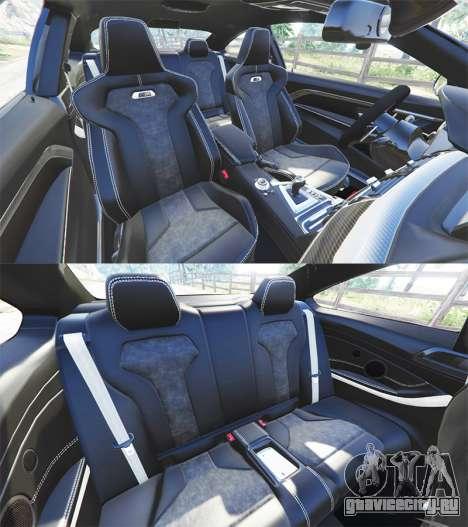 BMW M4 GTS для GTA 5 вид справа