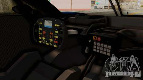 Ford GT 2016 LM для GTA San Andreas вид изнутри