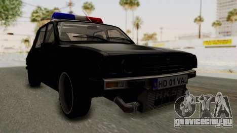 Dacia 1310 TX Turbo Police для GTA San Andreas вид справа