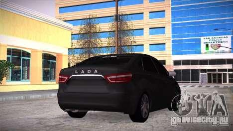 Lada Vesta Сток для GTA San Andreas вид слева
