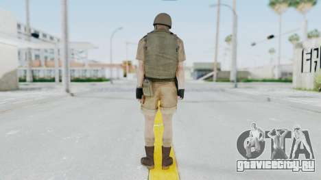 MGSV Phantom Pain CFA Vest v2 для GTA San Andreas третий скриншот