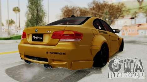 BMW M3 E92 Liberty Walk для GTA San Andreas вид справа
