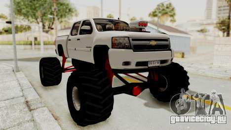 Chevrolet Silverado 2011 Monster Truck для GTA San Andreas вид сзади слева