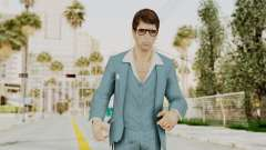 Scarface Tony Montana Suit v3 with Glasses для GTA San Andreas